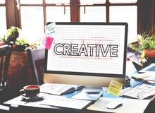 创造性的想法设计草稿图表概念 库存图片