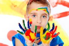 创造性的手指 免版税库存照片
