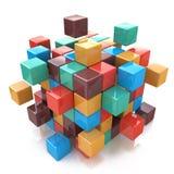 创造性的抽象企业配合、互联网和通信 皇族释放例证
