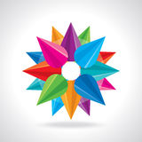 创造性的抽象圈子设计传染媒介 库存图片