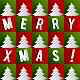 创造性的抽象圣诞快乐卡片 免版税库存照片