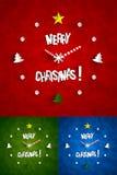 创造性的抽象圣诞节时钟 图库摄影