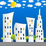 创造性的抽象城市街道 免版税库存图片