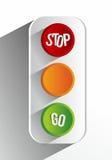 创造性的抽象红绿灯 免版税库存图片