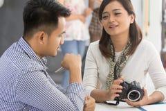 创造性的摄影师会议 免版税库存图片