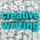 创造性的文字信件背景创造性想象力 免版税图库摄影