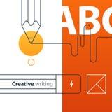 创造性的文字和讲故事,教育概念 向量例证