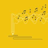 创造性的文字和讲故事,音乐创作概念 库存例证