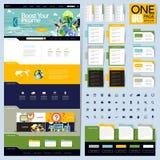 创造性的文件夹样式一页网站设计 库存照片