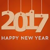 创造性的新年好2017设计 也corel凹道例证向量 库存照片