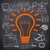 创造性的时髦的想法概念企业infographic布局 免版税库存照片