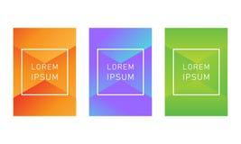 创造性的明亮的梯度样式设计元素 免版税库存照片