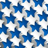 创造性的星背景 免版税库存照片