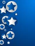 创造性的星背景 免版税库存图片