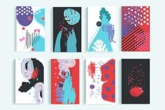创造性的普遍时髦卡片的汇集 免版税图库摄影