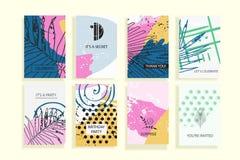 创造性的普遍时髦卡片的汇集 库存照片