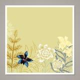 创造性的普遍花卉卡片 手拉的纹理 婚礼,周年,生日, Valentin ` s天,党邀请 向量 是 免版税库存照片
