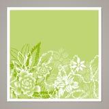 创造性的普遍花卉卡片 手拉的纹理 婚礼,周年,生日, Valentin ` s天,党邀请 向量 是 免版税库存图片