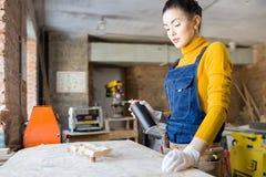 创造性的木制品 免版税库存照片