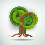 创造性的树概念 皇族释放例证
