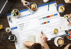 创造性的样品网站设计模板概念 免版税库存照片