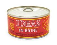 创造性的概念。锡罐。 免版税库存照片