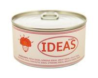 创造性的概念。锡罐。 库存图片