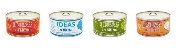 创造性的概念。锡罐。 图库摄影