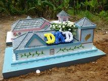 创造性的海岛墓碑 库存照片