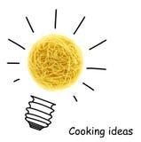 创造性的烹调想法 图库摄影