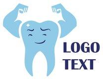 创造性的牙齿商标模板 库存例证