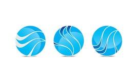 创造性的球形商标模板-被环绕的圆商标设计- Abstract Modern Company商标 皇族释放例证