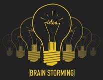 创造性的电灯泡想法 库存照片
