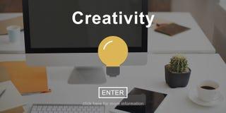 创造性的电灯泡象进入按钮概念 免版税库存图片