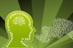 创造性的知识头脑报告人 免版税库存照片