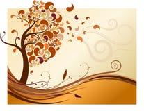 创造性的秋天结构树 图库摄影