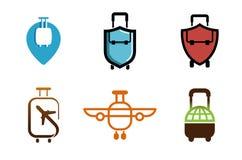 创造性的符号飞机对象设计 库存图片