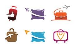创造性的符号飞机对象设计 免版税图库摄影