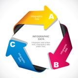 创造性的箭头infographic设计 免版税库存图片