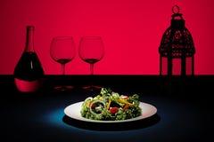 创造性的红色沙拉 免版税库存图片