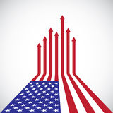 创造性的美国国旗,红色箭头, 免版税库存照片