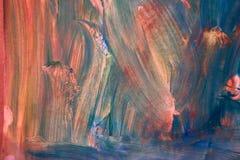 创造性的背景 美丽的图画 抽象纹理 在纸的水彩画绘画 皇族释放例证