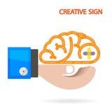创造性的脑子想法概念背景 库存图片