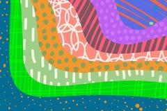 创造性的艺术背景手拉在充满活力的颜色 r ?? 皇族释放例证