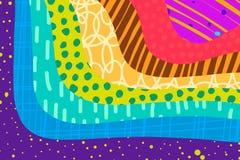 创造性的艺术背景手拉在充满活力的颜色 r ?? 库存例证