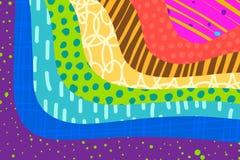 创造性的艺术背景手拉在充满活力的颜色 r ?? 向量例证