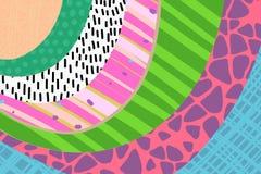 创造性的艺术背景手拉在充满活力的颜色 r ?? 横幅海报卡片盖子邀请招贴的纹理 皇族释放例证