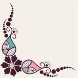 创造性的花和分行背景 库存照片