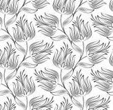 创造性的莲花无缝的墙纸  向量例证