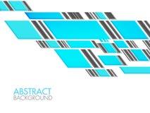 创造性的蓝色抽象几何背景 库存照片